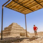 Saqqara Pyramids in the City of the Dead