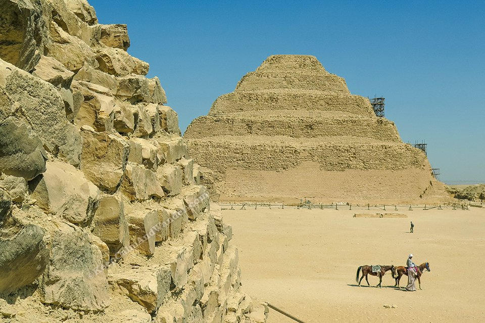 Step Pyramid of Zoser at Saqqara (Cairo, Egypt).