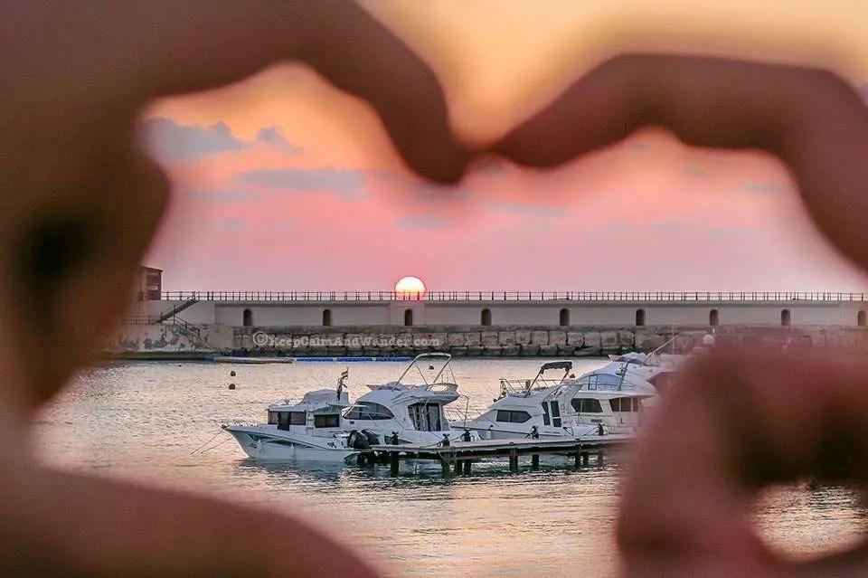 Mediterranean Sunset at Montaza Palace Gardens (Alexandria, Egypt).