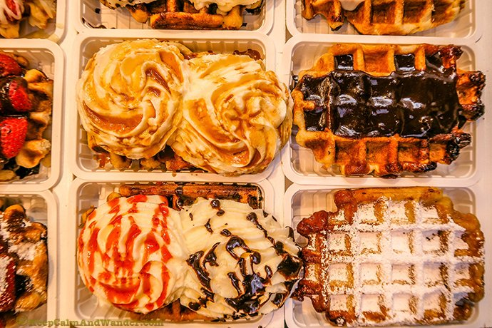 Food Porn - Waffles in Brussels, Belgium.