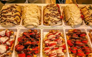 Food Porn - Belgian Waffles in Brussels (Belgium).