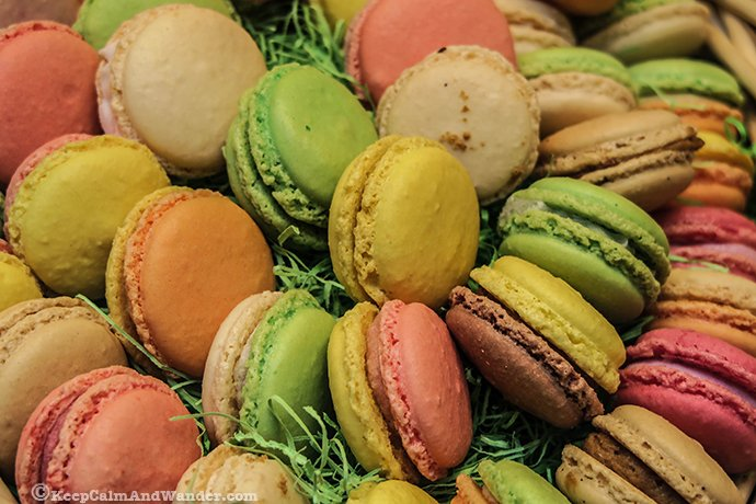 Macarons sweet treats.
