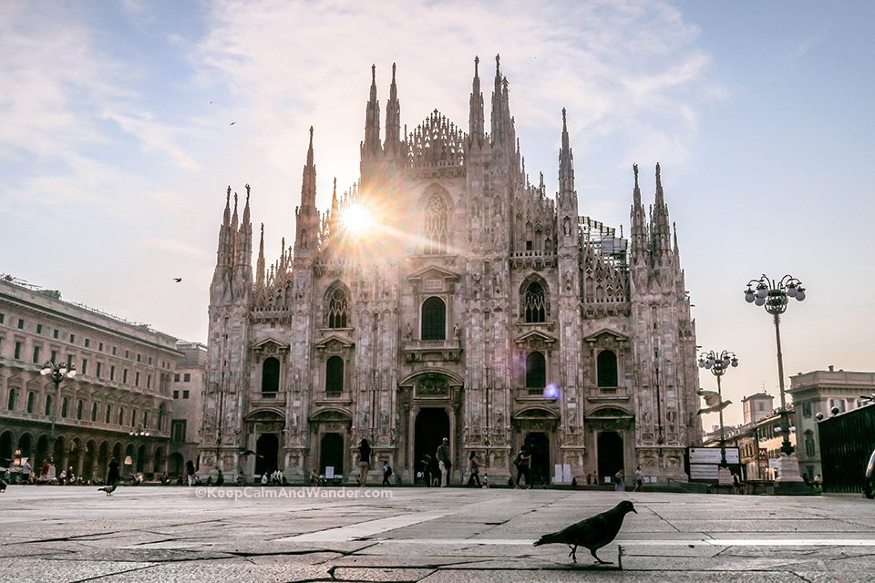 Milan Cathedral is the Most Elaborate Gothic Cathedral I've Seen (Milan Italy).