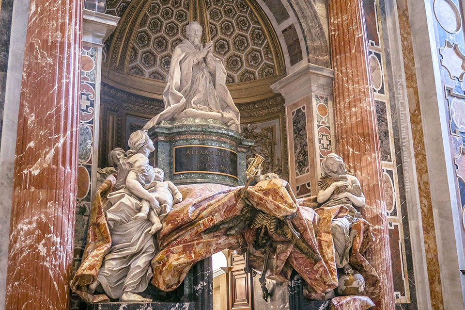 Inside St Peter Basilica in the Vatican (Rome, Italy).