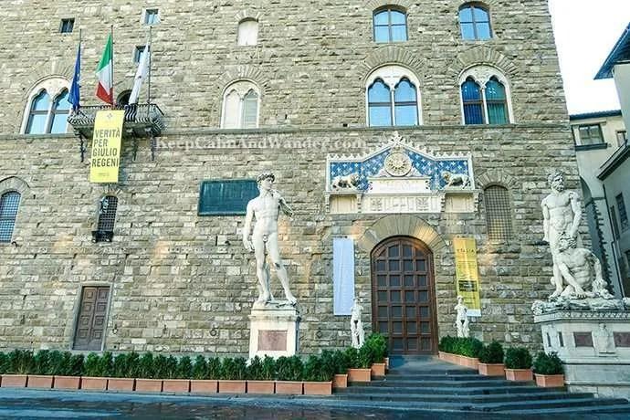 The Amazing Statues Outside Palazzo Vecchio in Florence (Piazza della Signoria, Italy).