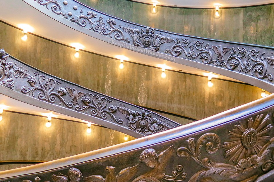 This Spiral Bramante Staircase at the Vatican Museum is Dizzying (Rome, Italy).