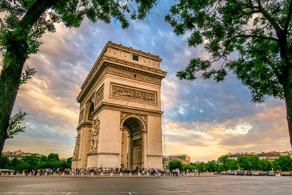 At Arch de Triomphe in Paris, All Twelve Avenues Meet Here (France).
