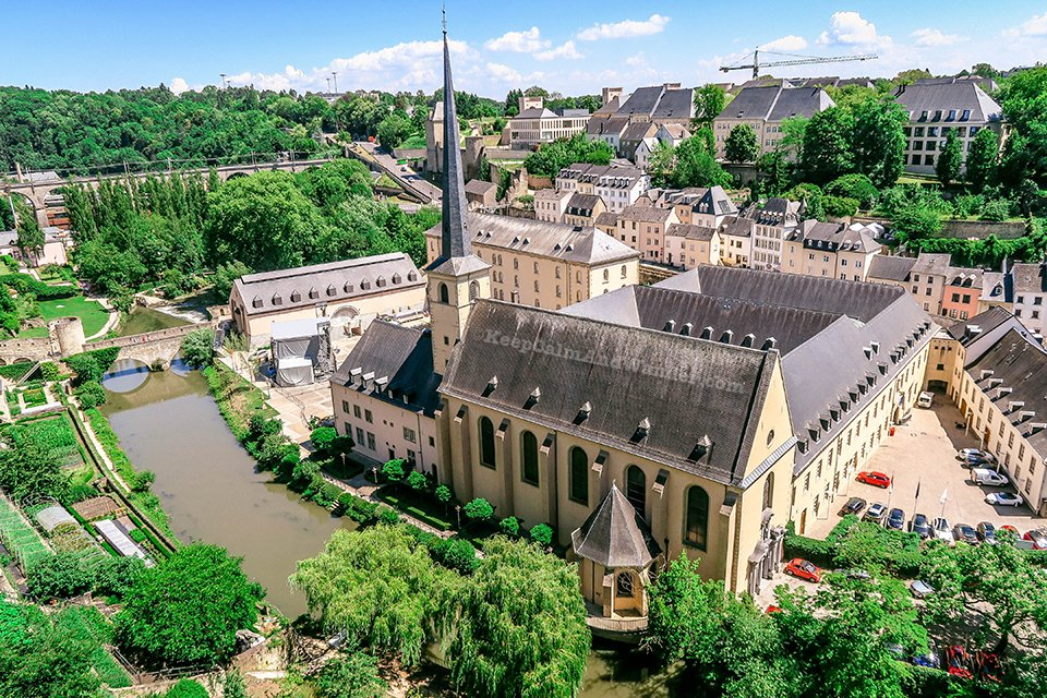 Chemin de la Corniche Promenade in Luxembourg is Europe's Most Beautiful Balcony.