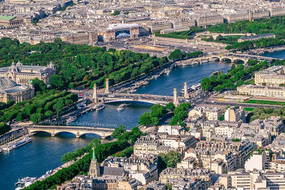 View from the Top of Eiffel (Paris, France).