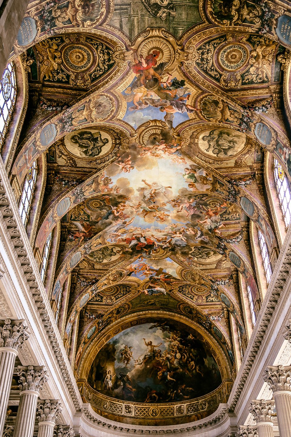 The Royal Chapel at the Palace of Versailles (France).