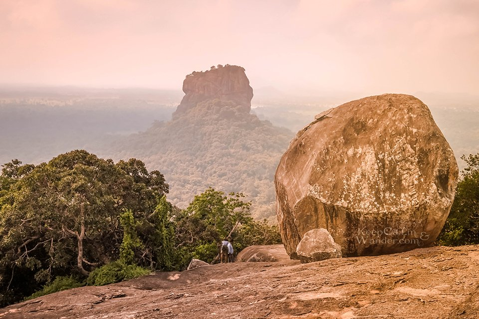 Climbing the Pidurangala Rock in Sigiriya (Sri Lanka).