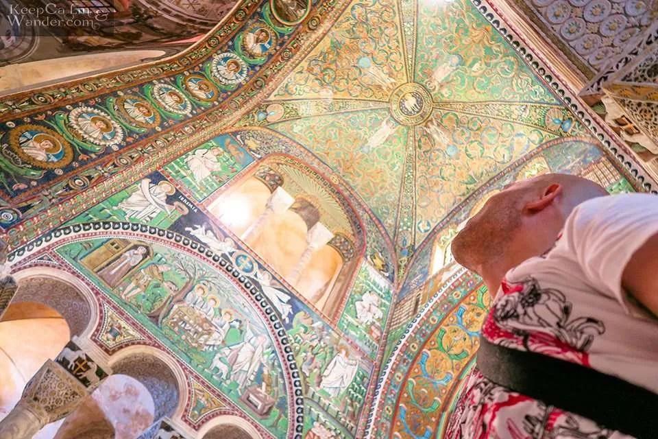 The Splendid Mosaics of San Vitale Basilica in Ravenna (Italy).
