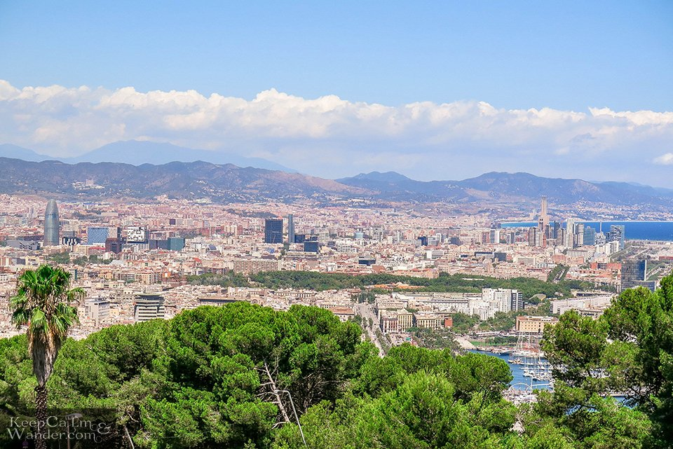 City Skyline: Splendid Views of Barcelona From Montjuic Castle (Spain).