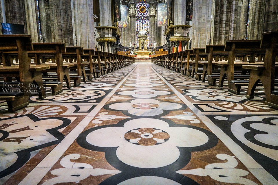 The Floor Inside Milan's Duomo Cathedral (Italy)