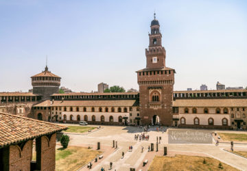 Inside the Sforza Castle - An Oasis of Arts, Culture and History in the Centre of Milan (Italy).