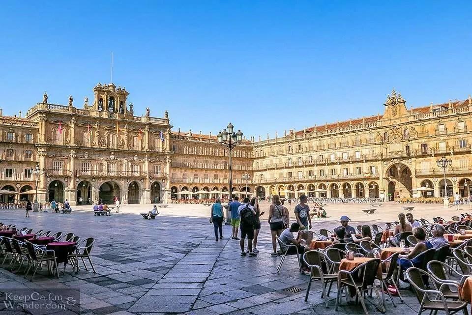 Plaza Mayor - One Day in Salamanca (Spain).