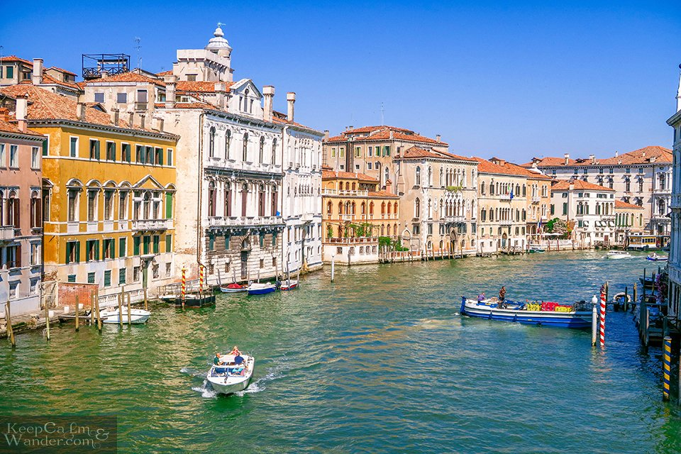 Views of Venice From the Accademia Bridge is Postcard Perfect! (Ponte dell' Accademia, Venice, Italy).