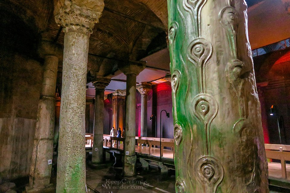 Inside Basilica Cistern: This Sunken Palace Has Been Featured in Hollywood Blockbusters (Istanbul, Turkey).