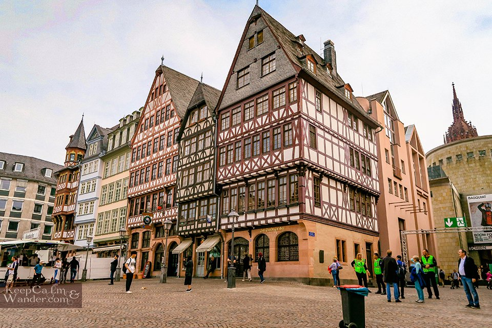 Römerberg is the Most Colorful Square in Frankfurt (Germany).