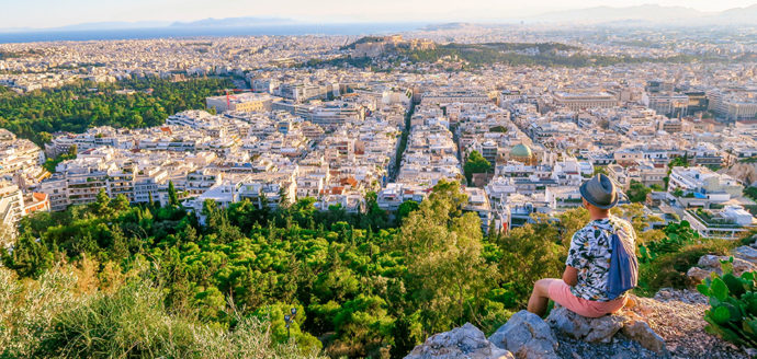 Travel Blog Photos City Skyline: The View of Athens from Mt Lycabettus (Athens, Greece).