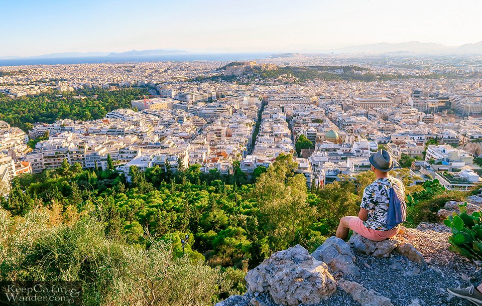 Travel Blog Photos City Skyline: The Views of Athens from Mt Lycabettus (Athens, Greece).