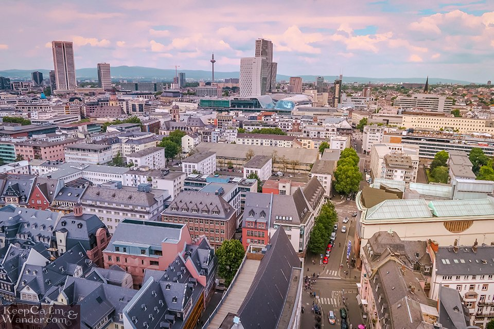 Travel Blog Photo The Views from Kaiserdom (Cathedral Tower) in Frankfurt (Germany).