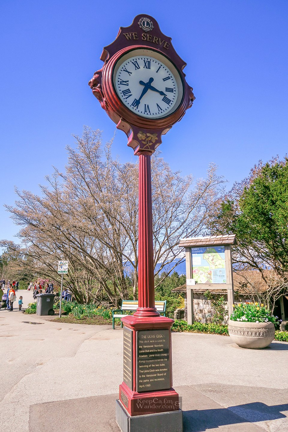 Red Clock at Park Queen Elizabeth in Vancouver Travel Blog