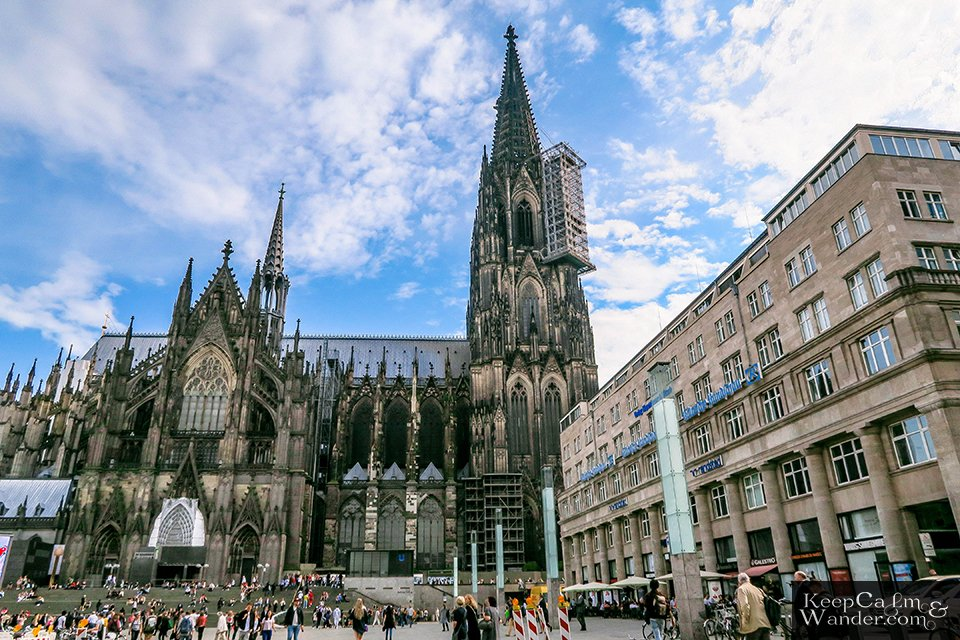 The Facade of Koln Cathedral (Germany).