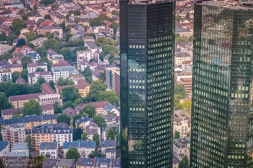Frankfurt Skyline from the Main Tower (Germany).  Travel Blog Photo Frankfurt Germany