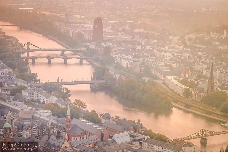 Frankfurt skyline from the Main Tower (Germany).  Main River Travel Blog Photo