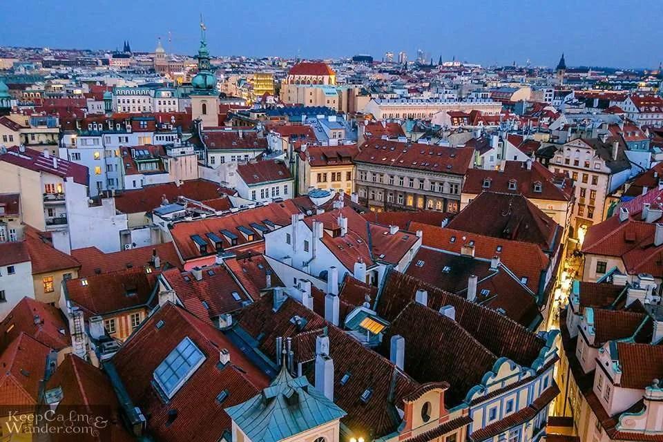 (Prague, Czech Republic). skyline views