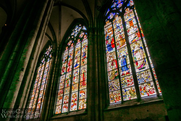 Stained Glass Windows Inside Cologne Cathedral - Nativity Window (Germany). Travel Blog