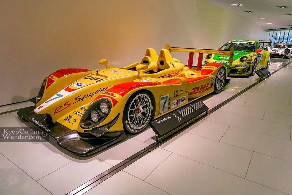 Inside the Porsche Museum in Stuttgart (Germany).