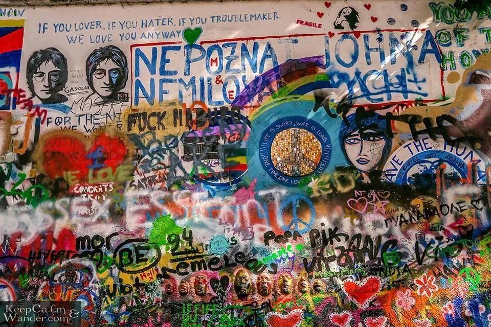 The John Lennon Wall in Prague (Czech Republic).