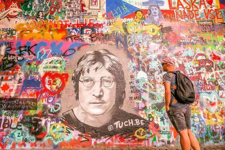 Image of Lennon in Prague Travel Blog