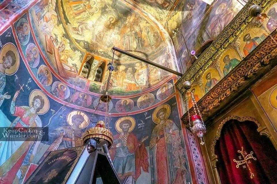 Inside Roussanou (Meteora, Greece).