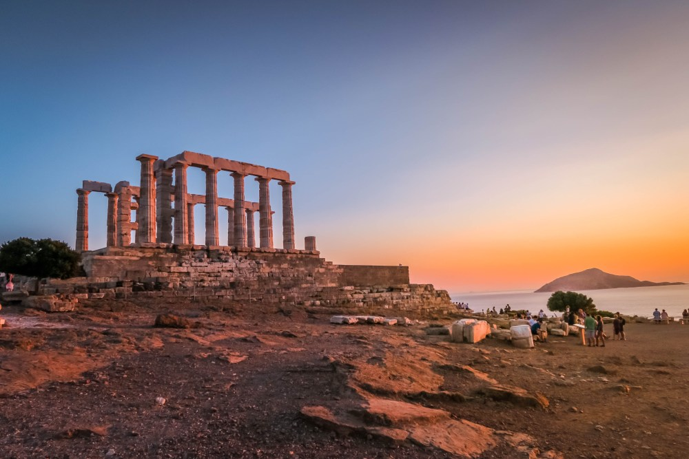 The Temple of Poseidon in Sounion, Greece.