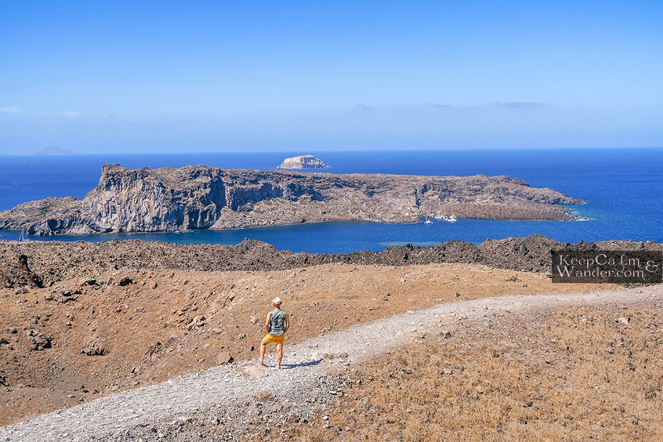 A Day Tour of Island Hopping in Santorini (Greece).