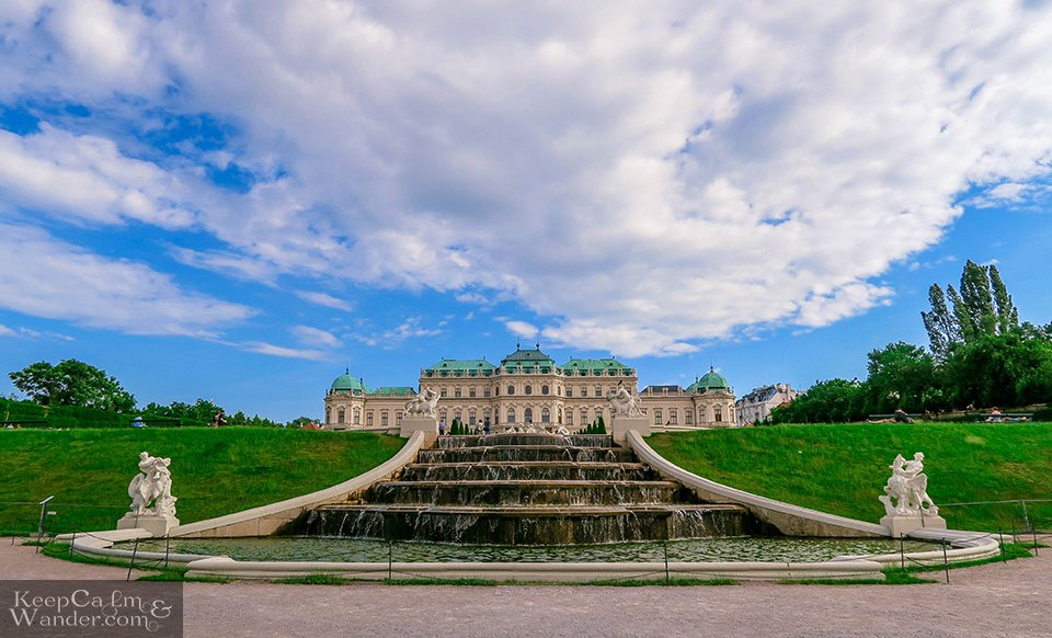 Fountain at Belvedere Austria