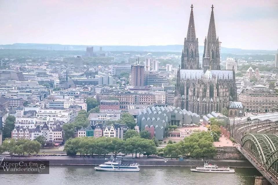 Koln cathedral Spires Panorama View Travel Blog