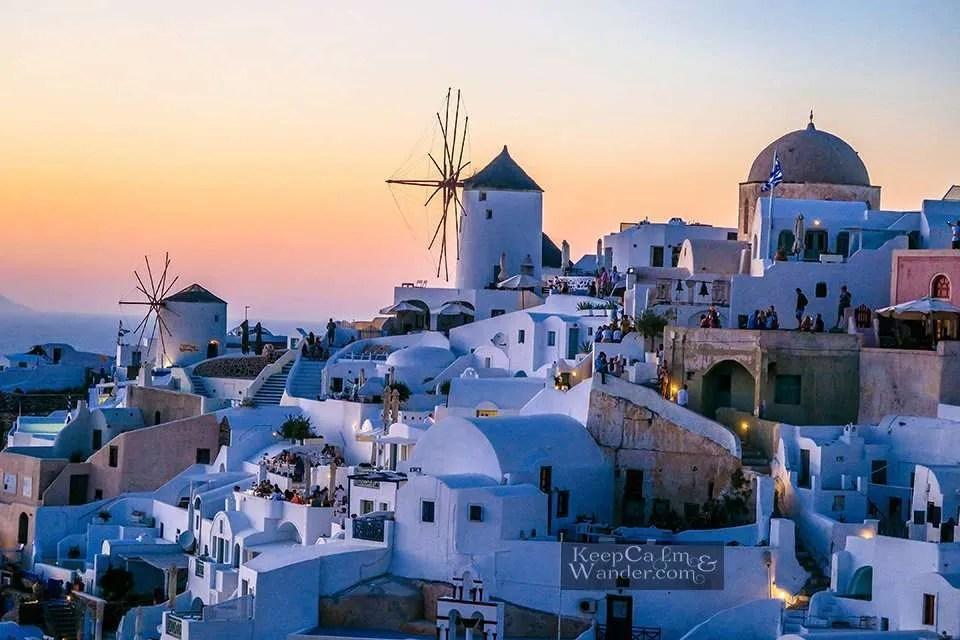 Windmill sun set via travel blog