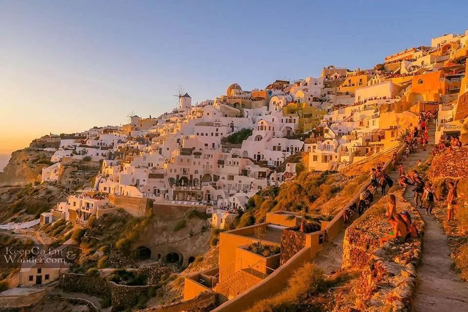 Things to do in Santorini sun set travel blog