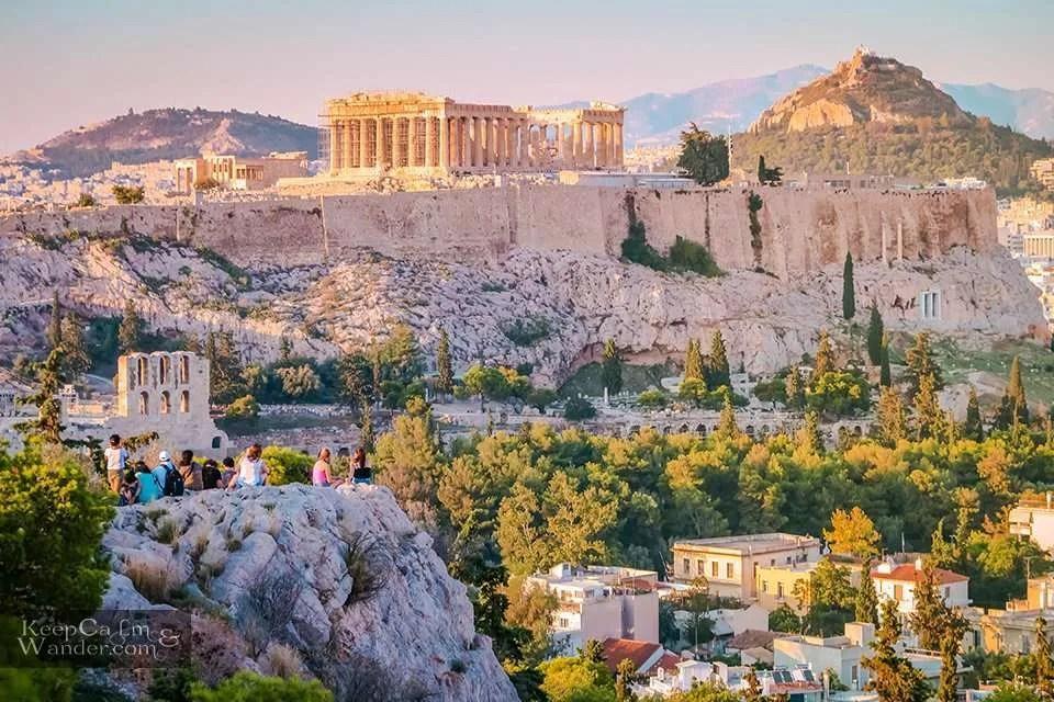 Parthenon The Parthenon from the Filopappou Hill Travel Blog