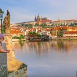 An Early Morning Stroll at Charles Bridge in Prague