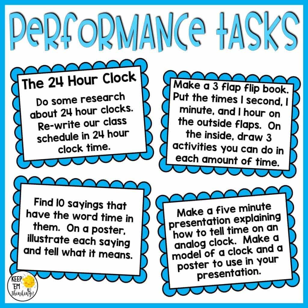 money performance tasks