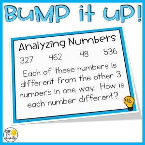 math analysis activity for place value