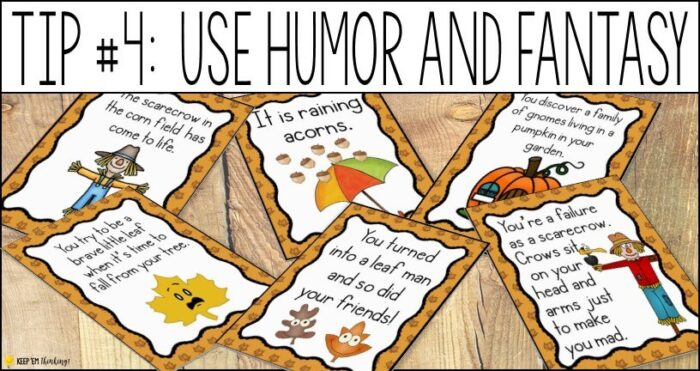 humor and fantasy motivate reluctant writers