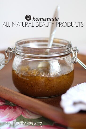 Have you ever wondered what's REALLY in your beauty products? Are they safe? You can keep your skin safe with these homemade all natural beauty products!