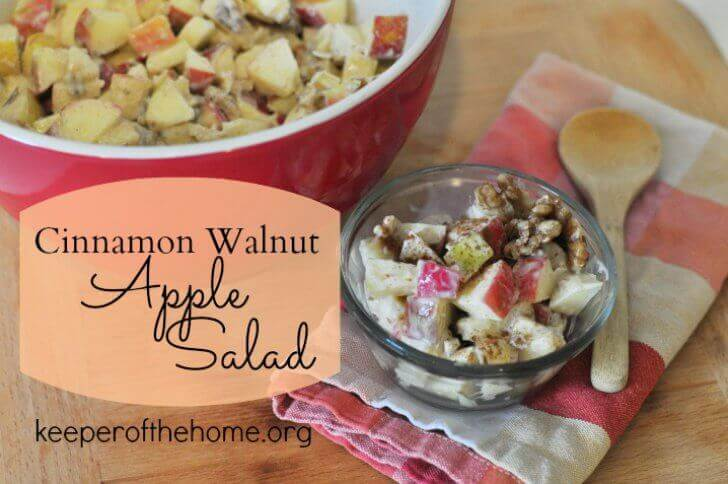 This apple salad is an easy way to serve fruit as a side dish, and this recipe is perfect for gatherings like potlucks! A real food upgrade of a family classic recipe that's crowd pleasing.
