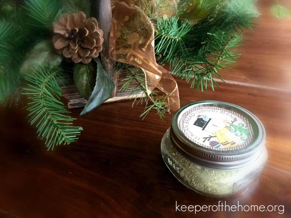 One of my favorite gifts last year was this jar of homemade bread spices. ~ KeeperoftheHome.org